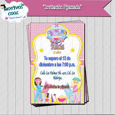 Personalizado Para Ninos Fiesta De Pijamas Fiesta Invita A
