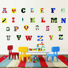 Creative Super Hero Style Alphabet Abc Wall Decal 26 Letters Diy Art Vinyls Stickers Nursery Kids Room Home Decorative Wallpaper Wall Stickers Aliexpress