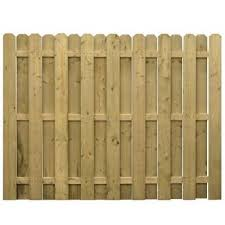 Unbranded 6 Ft X 8 Ft Pressure Treated Wood 3 Rail Dog Ear Shadowbox Fence Panel 73000646 The Home Depot Shadow Box Fence Fence Panels Wood Fence