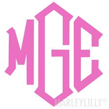 Monogrammed 5 Inch Decal Sticker High Quality Vinyl Marleylilly
