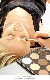 model in a salon stock photos and
