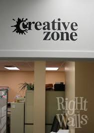 Creative Zone Creativity Wall Decals Vinyl Art Stickers