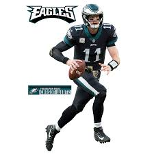 Fathead Carson Wentz Philadelphia Eagles Alternate 3 Pack Life Size Removable Wall Decal