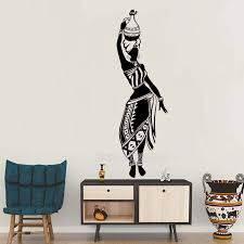 New Design Decal Africa Culture Dance Style Pitcher Vase Wall Sticker Vinyl Wallpaper Living Room Wall Decor Art Mural Hot Lc144 Decoration Art Designer Wall Stickerswall Sticker Aliexpress