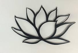 black lotus flower metal wall art lotus