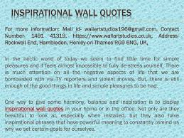 ppt inspirational wall quotes powerpoint presentation
