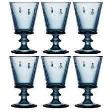 la rochere bee blue wine glass 240ml