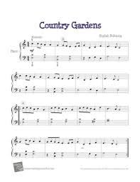 country gardens kids free piano sheet