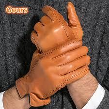 men genuine leather gloves goatskin