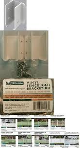 Fencing Clips And Brackets 180987 10 Sets New Veranda White Vinyl Fence Bracket 2 Pack 116058 Upc 090489170936 Bu White Vinyl Fence Vinyl Fence White Vinyl