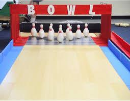 homemade bowling lanes