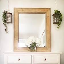 vanity mirror white wax wall mirror