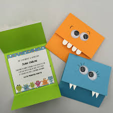Monsters Birthday Invitations Easy And Beautiful Idea