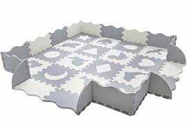 Baby Play Mat With Fence Interlocking Foam Floor Tiles Toddler Kids For Sale Online