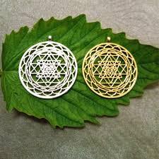 sri yantra pendant silver plated