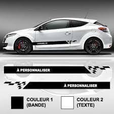 Custom Text Car Side Stripes Sticker Set