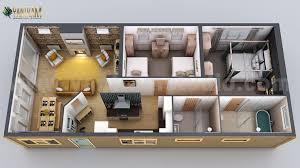modern small home design 3d floor plan