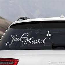 2020 Bridal Bridegroom Just Married Car Window Sticker Auto Decal White 60cmx20cm Wedding Decoration Art Home Decor From Eforcar 7 03 Dhgate Com