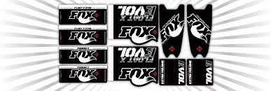 Fox Shock Decal Kit Ssi Decals