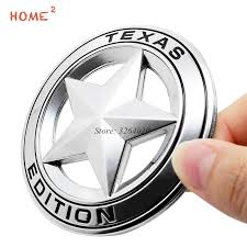 Discount Car Styling Fender Boot Trunk Stickers For Texas Edition Star Logo Metal Emblem Decals For Jeep Compass Patriot Wrangler Renegad
