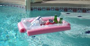 some pool noodles and plastic bin