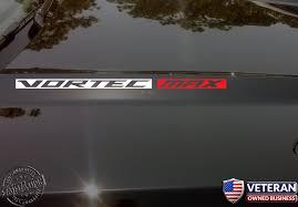 Vortec Max Hood Vinyl Decal Sticker Fit Chevrolet Silverado Ss Gmc Sie Roe Graphics And Apparel