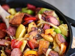 turkey kielbasa stir fry recipe and
