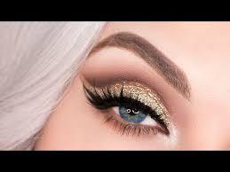 gold glitter cut crease tutorial lush