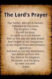 hasil gambar untuk doa bapa kami dalam bahasa inggris sembahyang