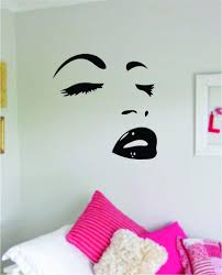 Brows Lashes Lips Girls Face Wall Decal Sticker Vinyl Room Decor Art L Boop Decals