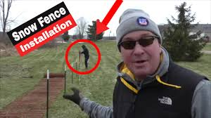 How To Install A Snow Fence Diy Snowfence Youtube