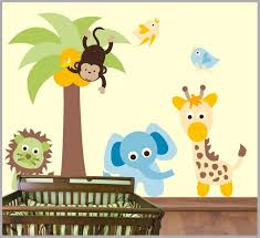 Baby Room Wall Decals Animal Themed Wall Decals Palm Tree Decal Nurserydecals4you