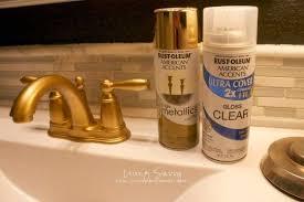 gold bathroom faucet