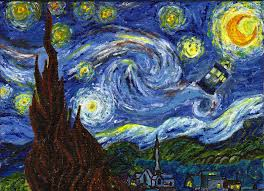 50 doctor who starry night wallpaper