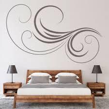 Thin Swirl Headboard Bedroom Wall Decal Sticker Ws 18145 Ebay