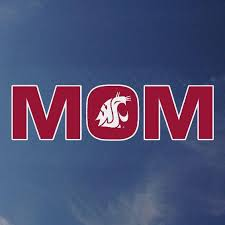 Wsu Mom Decal With White Coug Logo Cougarwear