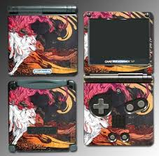 Okami Wolf Amaterasu Video Game Vinyl Decal Skin 86 For Nintendo Gba Sp Gba Vinyl Decals Amaterasu