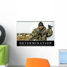 Determination Inspirational Quote And Wall Decal Wallmonkeys Com
