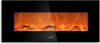 wall mounted glass electric fireplace