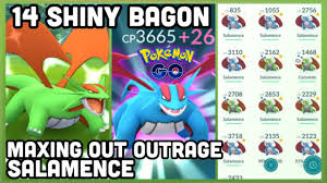 14 Shiny Bagon & lots shiny Salamence in Pokemon GO | Outrage Salamence  maxed out - YouTube