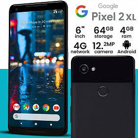 Image result for Google Pixel 2 XL – 128GB, 4GB RAM, 4G LTE, Just Black""