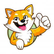 shiba inu dog mascot character smiling