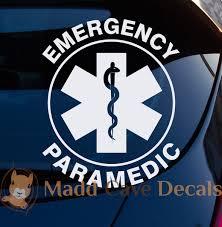 Emergency Paramedic Emt Decal