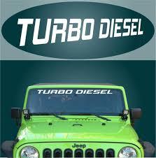 Turbo Diesel Windshield Banner Decal Topchoicedecals