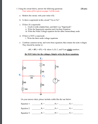 solved 1 using the circuit below