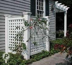 Ac Unit Fence Yahoo Search Results Backyard Yard Backyard Landscaping