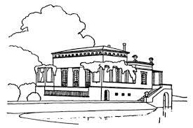 Luxe Villa Vlakbij Het Meer Kleurplaat Gratis Kleurplaten Printen