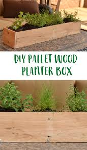 diy wood pallet planter box