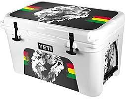 Amazon Com Skinit Decal Skin For Yeti Tundra 45 Hard Cooler Originally Designed Horizontal Banner Lion Of Judah Design Electronics