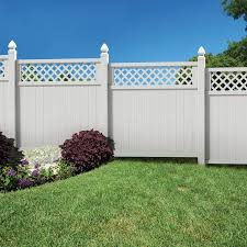 Shop Gatehouse Arborley White Lattice Top Privacy Vinyl Fence Panel Common 72 In X 6 Ft Actual Vinyl Fence Panels Vinyl Fence Fence Panels